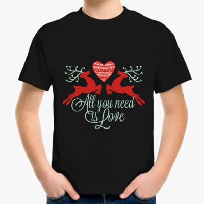 Детская футболка Олени Любовь