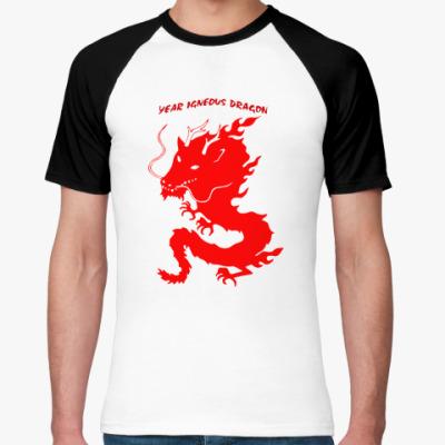 Футболка реглан Год огненного дракона