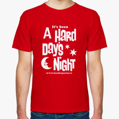 Футболка Hard Day's Night (мужс. цвет.)