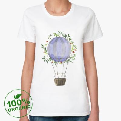 Женская футболка из органик-хлопка Воздушный шар в цветах