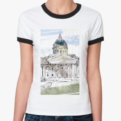 Женская футболка Ringer-T Казанский собор