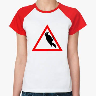 Женская футболка реглан Водятел