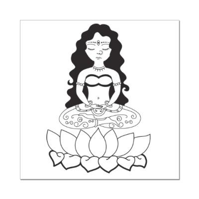Наклейка (стикер) Медитация