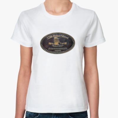 Классическая футболка `Baker Street 221b`Жен.футб.