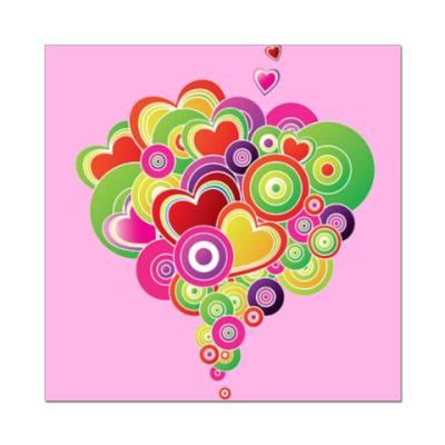 Наклейка (стикер)  Heart