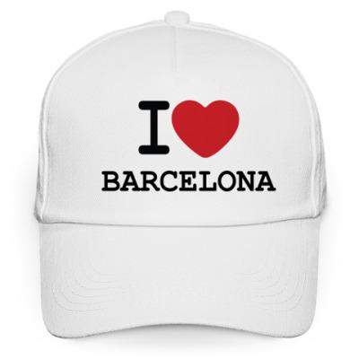 Кепка бейсболка I Love Barcelona
