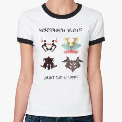 Женская футболка Ringer-T Тест Роршаха