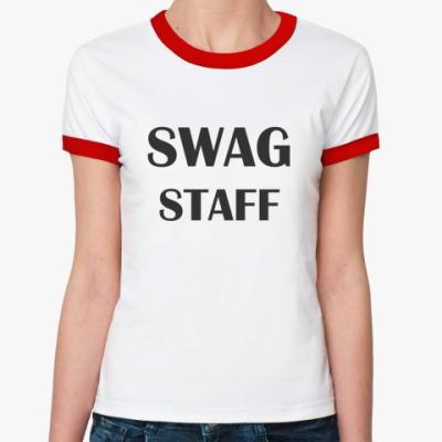 Женская футболка Ringer-T Swag Staff