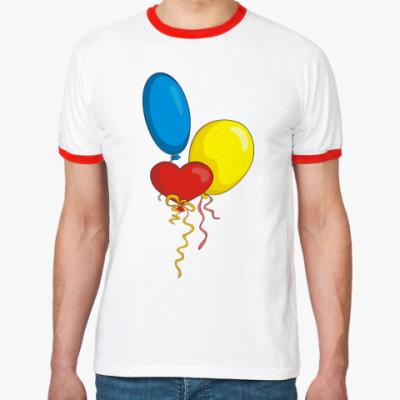 Футболка Ringer-T Воздушные шарики