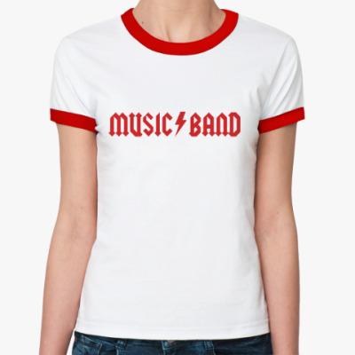 Женская футболка Ringer-T Music Band