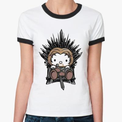 Женская футболка Ringer-T Китти Старк