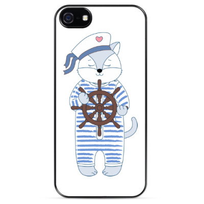 Чехол для iPhone Кот-морячок