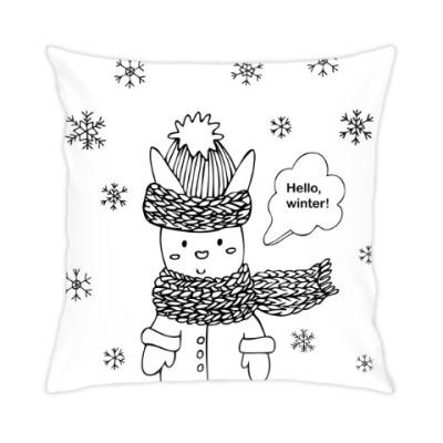 Подушка Привет, зима!
