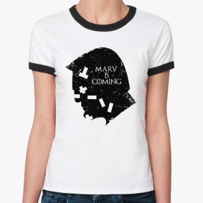 Женская футболка Ringer-T Марв близко