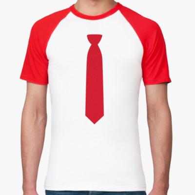 Футболка реглан галстук