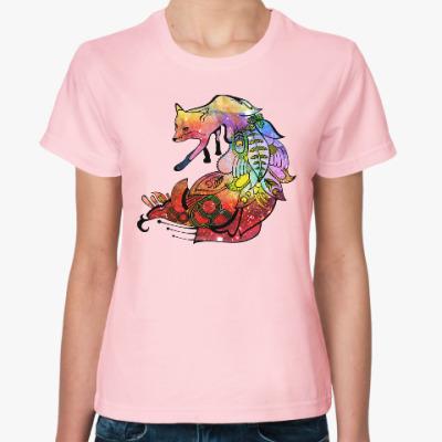 Женская футболка Nocturnal Fox