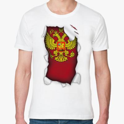 Футболка из органик-хлопка 'Герб России'