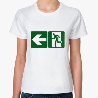 Классическая футболка Выход там