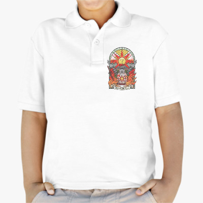 Детская рубашка поло Dark Souls Praise the sun