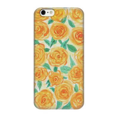 Чехол для iPhone 6/6s цветочный принт  'Желтые розы'