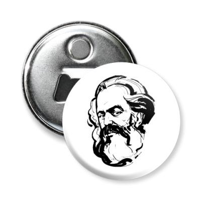 Магнит-открывашка -открывашка  Карл Маркс