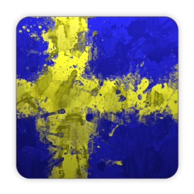 Костер (подставка под кружку) Шведский флаг