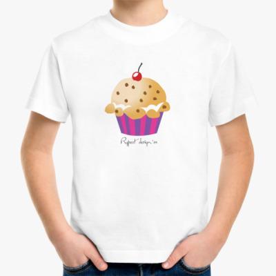 Детская футболка  детская с кексиком