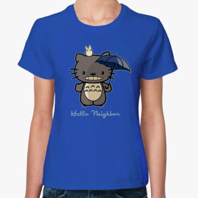 Женская футболка Hello Totoro