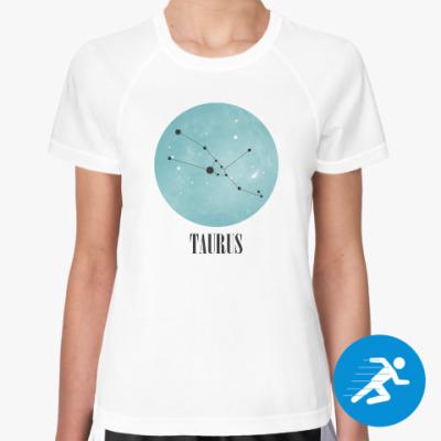Женская спортивная футболка Знак зодиака Телец