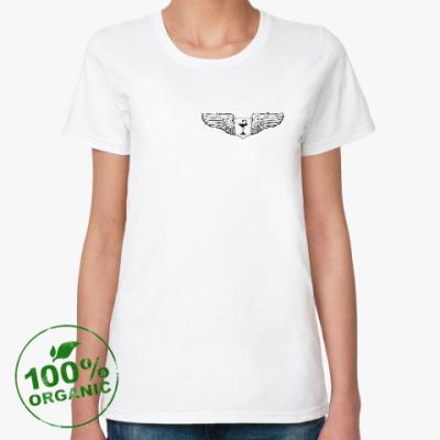 Женская футболка из органик-хлопка MedAngel (медицина)