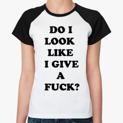 Женская футболка реглан   Fuck