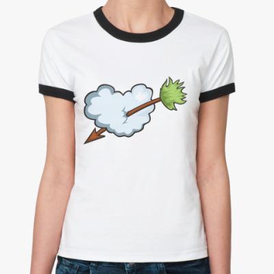 Женская футболка Ringer-T Сердце и стрела