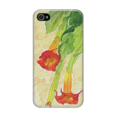 Чехол для iPhone 4/4s Цветочный принт