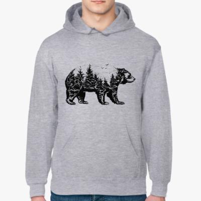 Толстовка худи Медведь лес