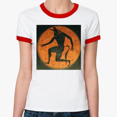 Женская футболка Ringer-T Минотавр