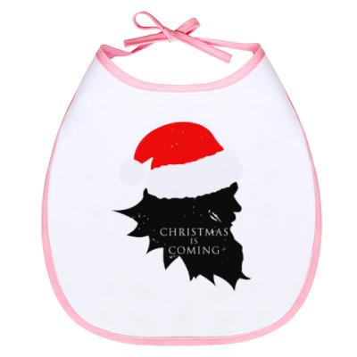 Слюнявчик Christmas is coming