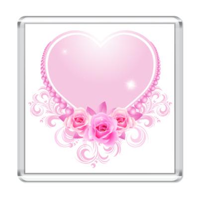 Магнит Сердечко к Дню Св.Валентина