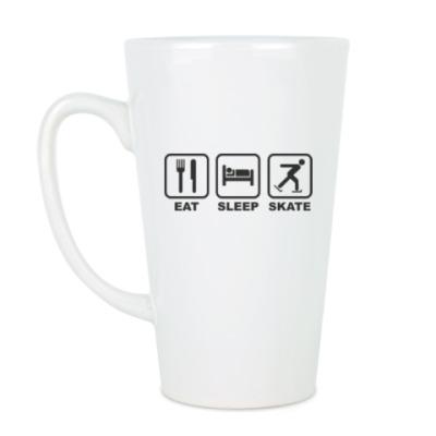 Чашка Латте Eat Sleep Skate
