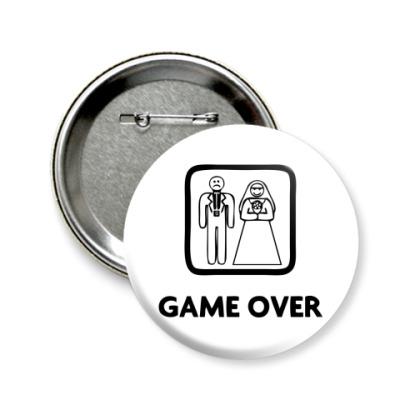 Значок 58мм Game Over