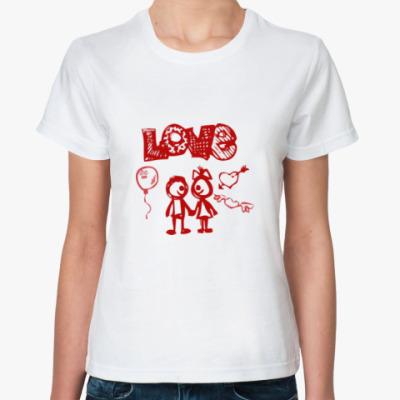 Классическая футболка Love you