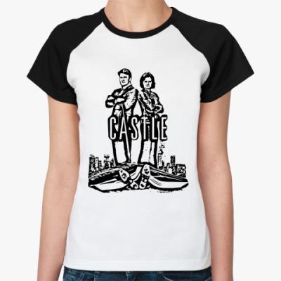 Женская футболка реглан Касл