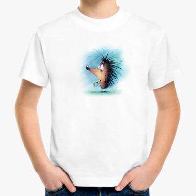 Детская футболка ёжик с цветком