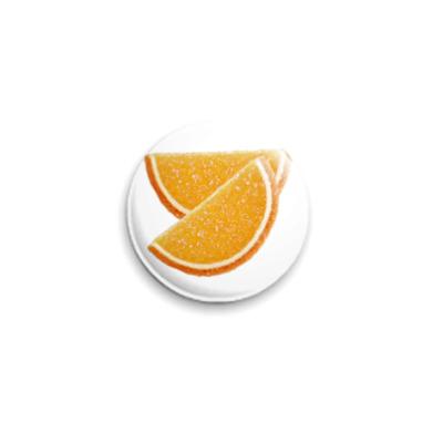 Значок 25мм  Апельсиновые дольки