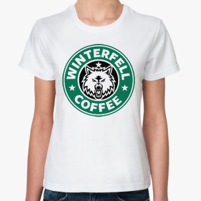 Классическая футболка Winterfell (Game of Thrones)