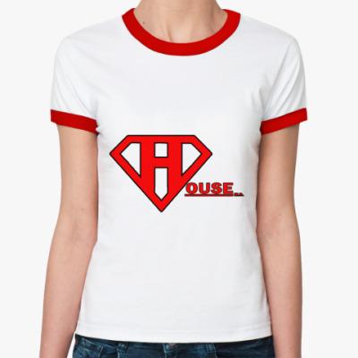 Женская футболка Ringer-T SuperHouse