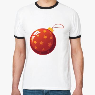 Футболка Ringer-T Елочный шар