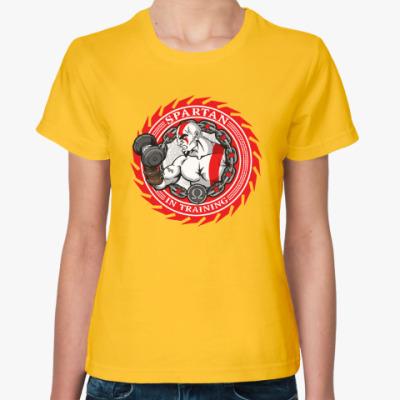 Женская футболка Спартанцы тренируются