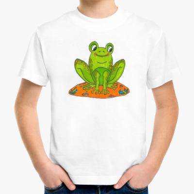 Детская футболка Лягушка на островке