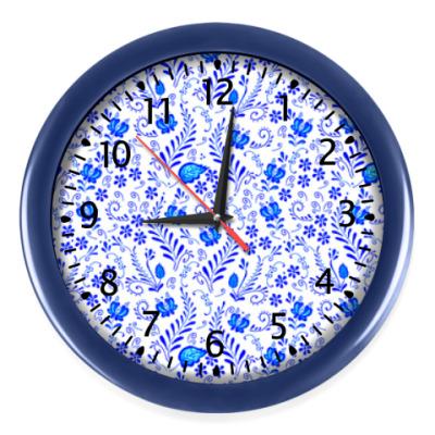 Настенные часы Гжель