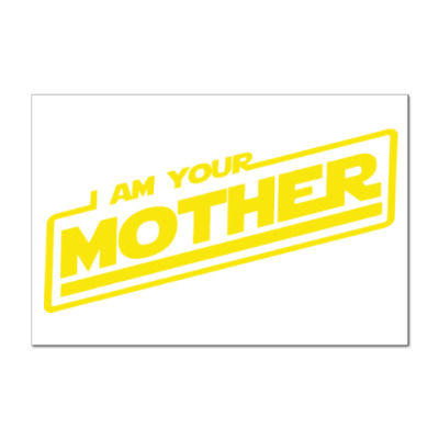 Наклейка (стикер) Я твоя мать